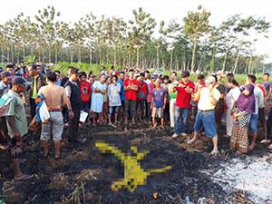 HEBOH! Mayat Terbakar di Perkebunan Tebu di Pati
