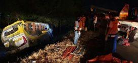 Rombongan Bus SMPN 1 Pulokulon Grobogan Kecelakaan di Tol Kanci, 4 Tewas dan 3 Luka Berat