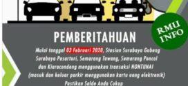 Cara Bayar Parkir Non Tunai di Parkir Stasiun 2020