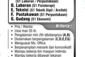 Dibutuhkan S1 Fisioterapi dan S2 Fisioterapi di Semarang Juni 2020