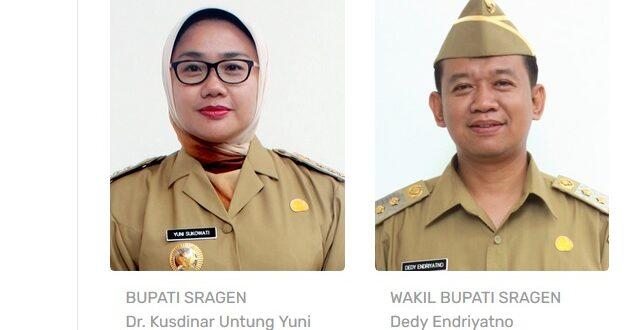 Profil Bupati Sragen dr Kusdinar Untung Yuni Sukowati