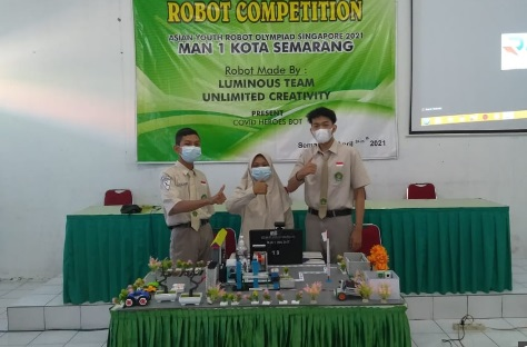 Robot Covid Heroes Bot Buatan Siswa MAN 1 Semarang Juara Satu di Asia Tenggara