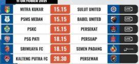 Hasil Liga 2 Terbaru Terlengkap, Senin 11 oktober 2021
